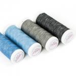 Нитки швейные двухцветные для джинсы Nokton № 80C Aurora