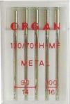 Иглы Organ метафил № 90(3),100(2), 5 шт.