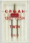 Иглы Organ двойные стандартные №100/6.0, 1шт.